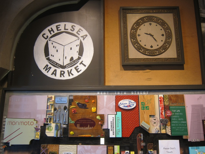 Entering the Chelsea market (great spot for lunch).