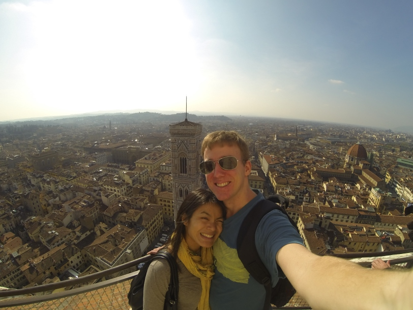 Atop the magnificent Duomo!