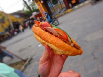 Delicious Banh Mi from the central market in Hoi An.