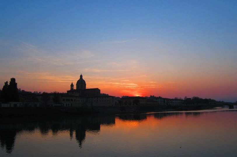 Sunset on the Arno...